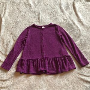 Purple and silver pin striped sweater
